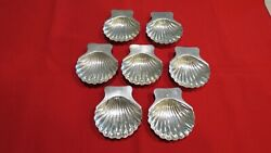 Vintage Sterling Silver Mexican Maciel Shell Nut Candy Dishes