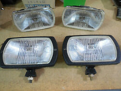 Cibie 95i Clear Fog Lamps, Pair Genuine, Complete W/covers + Spare Pair Lenses