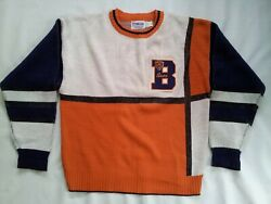 Vintage Made In Usa 80and039s Cliff Engle Pro Line Chicago Bears Sweater In Size L