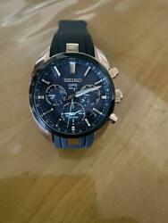 Seiko Astron 5x53-0aj0 Used Day Date Gps Solar Mens Watch Authentic Working