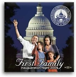 First Family Inauguration Night Square Obama Photo Button - 2 X 2