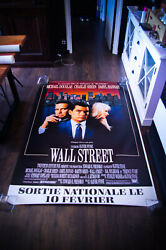 Wall Street 4x6 Ft French Grande Rolled Vintage Movie Poster Original 1987