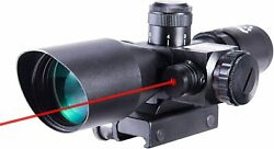 Ade Tactical Compact Red Laser 2.5-10x40 Illuminated 4 Reitcle Riflescope