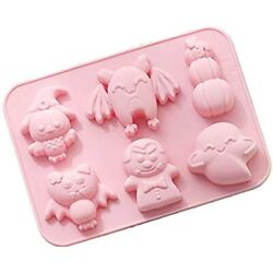 Halloween Silicone Baking Molds, Candy Chocolate Gummy 6-cavity Non-stick Diy