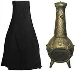 Chiminea Fireplace Cover Durable Waterproof Outdoor Patio Yard Fire Wood Burning