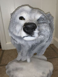 Rick Cain 1996 Snow Wolf Limited Edition Sculpture 534/1000