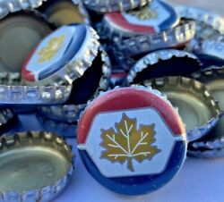500 Canadian Flag Red White Blue Beer Bottle Caps Fast Shipping, Great Value