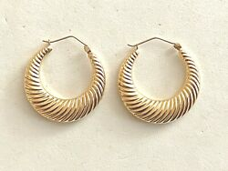 Solid 14k Yellow Gold Hoop Earrings- See Other Jewelry, Coins, Gold