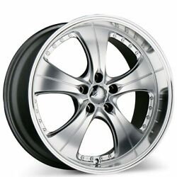 19x8.5 Ace C053 Trend Hyper Silver With Machined Lips Wheels Fit 5x114