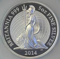 2014 British Royal Mint Britannia Andpound 10 Silver Coin Ultra Cameo One Of First 750