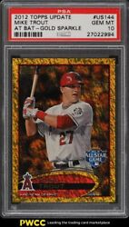 2012 Topps Update Gold Sparkle Mike Trout Rookie Rc Us144 Psa 10 Gem Mt