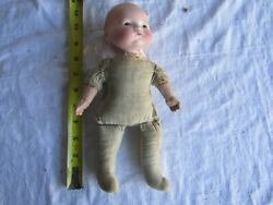 VINTAGE BISQUE HEAD DOLL BABY AM 341 12 MADE GERMANY 10 INCH