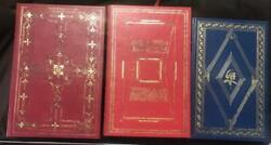 Lot Of 3 Leather Books Signed First Edition From The Franklin Library