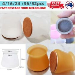 Silicone With Felt Chair Leg Protector Pad Cover Table Furniture Feet Floor Cap