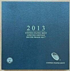 2013 Us Mint Ltd Edition 8-coin Silver Proof Set Ase Kennedy Quarters Dime