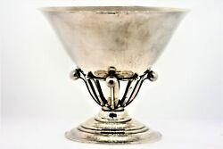 Georg Jensen 6 Denmark Sterling Silver Compote Bowl Dish 5.25 Tall 6.25 Wide
