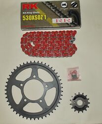 Rk X-ring Red Chain And Black Sprocket Kit Fits Gsf600 Bandit Mk1 95-99
