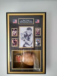 Mike Tyson Framed Glove. A Totally One Off Unique Item