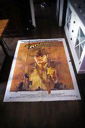 Indiana Jones Raiders Of The Lost Ark 4x6 Ft French Poster Original 1981 Used