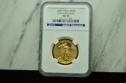2009 25 Gold American Eagle 1/2 Oz Ngc Ms70 Early Releases -perfect Coin