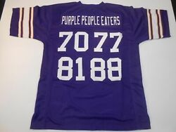 Unsigned Custom Sewn Stitched Purple People Eaters Purple Jersey - Extra Large