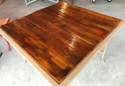 Repurposed Patio Square Table Outdoor Furniture Garden Reclaimed Wood Vintage