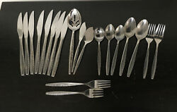 Vintage Coventry Stainless Steel Bouquet Silverware Flatware 20 Piece Lot