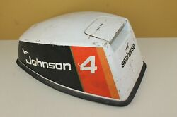 1976 Johnson 4hp Outboard 4w76m Engine Motor Cover Cowl Hood Cowling