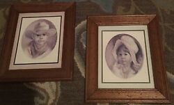 Vintage Homco Home Interior Pictures 2 Little Cowboy And Prairie Girl Vel Miller
