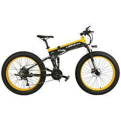 26 Fat Tire Mountain E-bike Folding Electric Bicycle 1000w 48v 10ah