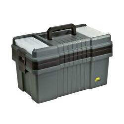 Tool Box 22 Portable Storage Weather Resistant Durable Plastic Tray W/ Handles