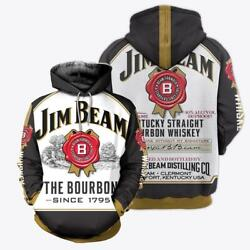 Men Jim Beam The Bourbon Since 1975 Whiskey 3d Pullover Hoodie All Over Prints