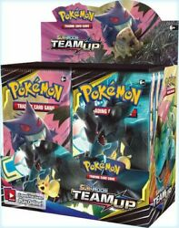 Pokemon Tcg Sun And Moon 9 Team Up Booster Box Sealed 1 Box 36 Packs