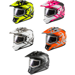 2020 Gmax Gm-11s Trapper W/electric Shield Dual-sport Snow Motorcycle Helmet