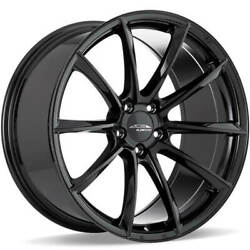 4 19 Staggered Ace Alloy Wheels Aff05 Gloss Piano Black Rimsb45