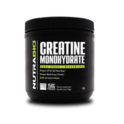 Nutrabio Creatine Monohydrate [150 Grams] Micronized Strength Recovery Muscle