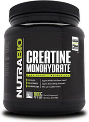 Nutrabio Creatine Monohydrate 1000 Grams Micronized Muscle Strength Recovery