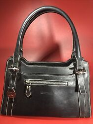 Dooney amp; Bourke Vintage Black Satchel Bag Handbag Purse $72.68