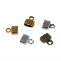 100pcs Craft End Caps Leather Cord Crimp End Bead Connector For Jewelry Making