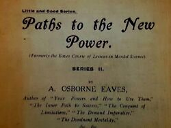 Antique Rare Book A Osborne Eaves Paths To The New Power Uk 2nd Rev Ed. 1920