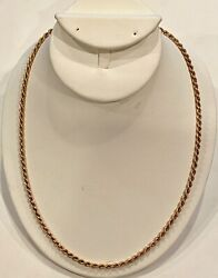 Solid 14k Yellow Gold, 20 1/2, Italian Chain, See Other Gold Jewelry And Coins