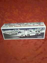 Brand New In Box Hess Toy Truck And Helicopter 2006 Gas Station Xmas Gift Car