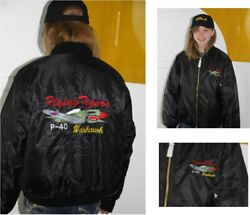 P-40 Warhawk P-40 Wwii Ma-1 Jacket Full Embroidered Back And Crest Wwii