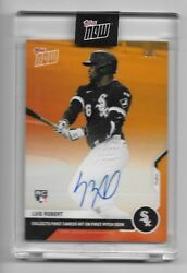 2020 Topps Now Baseball Luis Robert 11e On Card Auto Rc And039d 3/5 White Sox Auto
