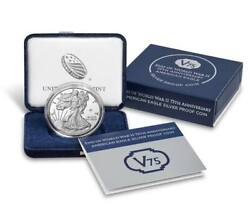End Of World Warii 75th Anniversary Collectible American Eagle Silver Proof Coin