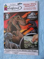 Colorforms Jurassic World Sticker Story Adventure - Over 40 Colorforms - New