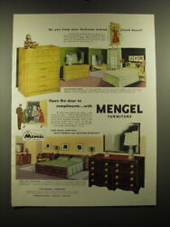 1951 Mengel Furniture Ad - Silhouette Group And Gold Goast Mahogany