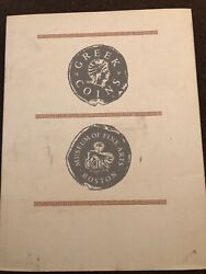 Greek Coins Museum of Fine Arts Boston Catalog of Collection 1950 1963