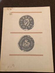 Greek Coins Museum of Fine Arts Boston Catalog of Collection 1950 1963 Softcover