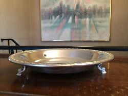 Wm Rogers And Son Silverplate Spring Flower Footed Dish - 2060
